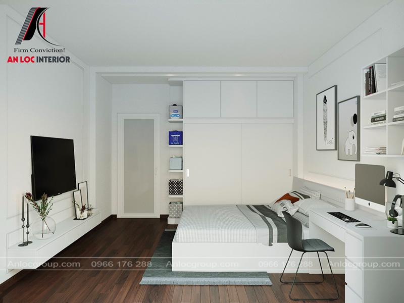 Thiết kế phòng ngủ nhà phố tại Hải Phòng