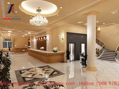 Hành lang đat tiêu chuẩn thiết kế khách sạn