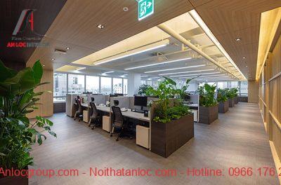 Không gian xanh mang đến môi trường làm việc thoải mái, dễ chịu