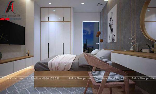Thiết kế căn họ chung cư 60m2 2 phòng ngủ