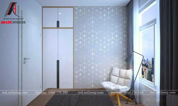 Thiết kế căn hộ chung cư 60m2 2 phòng ngủ