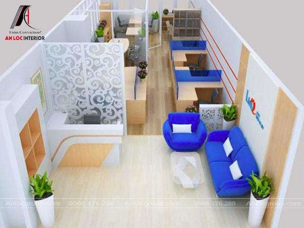 Mẫu 12 - Thiết kế văn phòng diện tích nhỏ