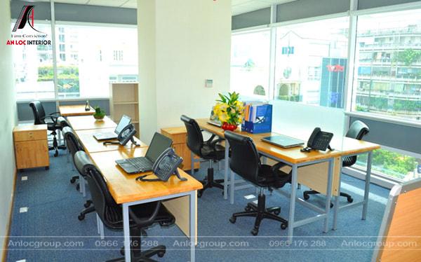 Mẫu 14 - Văn phòng làm việc nhỏ cho công ty telesale