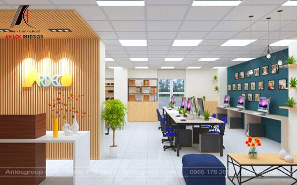Mẫu 19 - Thiết kế văn phòng công ty nhỏ đẹp, hiện đại
