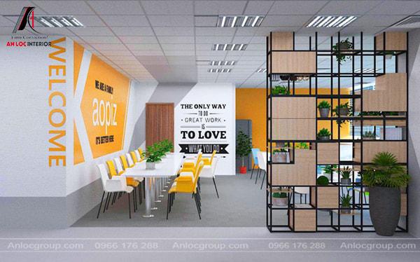 Mẫu 21 - Thiết kế nội thất văn phòng nhỏ đẹp, trẻ trung