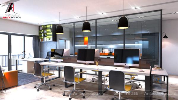 Mẫu 24 - Nội thất văn phòng nhỏ hiện đại