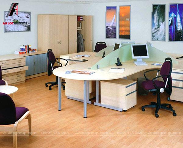 Mẫu 29 - Ý tưởng bố trí nội thất đẹp cho văn phòng mini