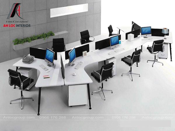 Mẫu 36 - Bàn văn phòng được thiết kế cá tính tạo điểm nhấn với tính thẩm mỹ cao