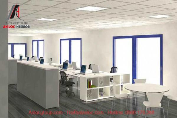 Cửa chiếu sáng giúp thiết kế văn phòng công ty thoáng đãng