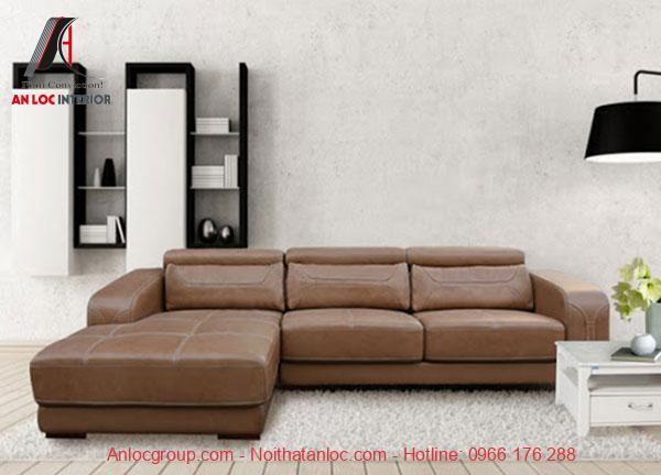 Sofa bọc da hiện đại