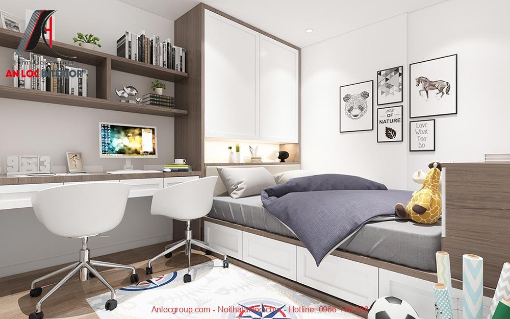 Mẫu 19: Nội thất phòng ngủ bé trai hiện đại (Ảnh 1)