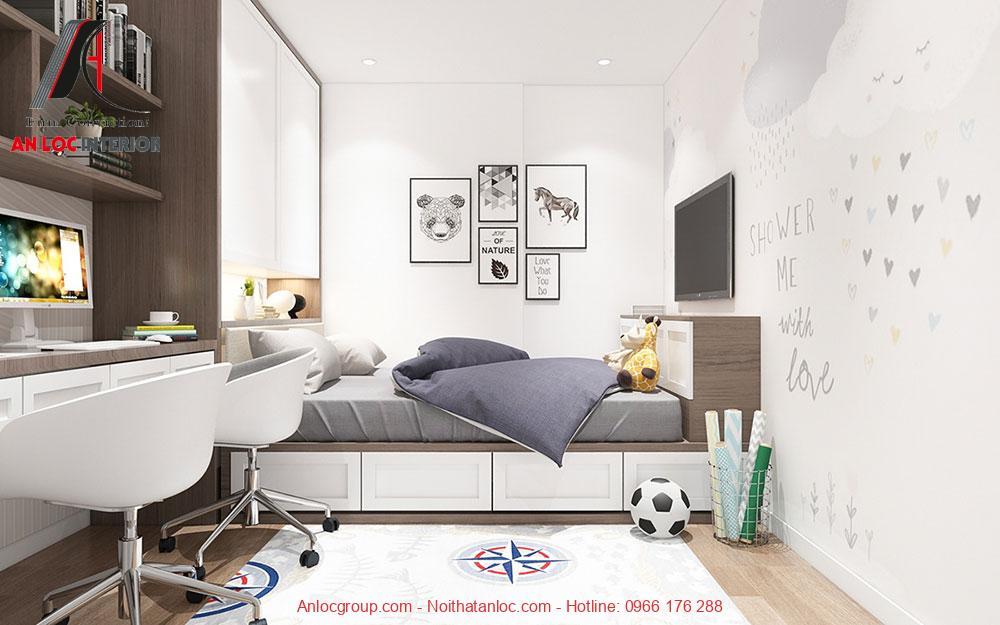 Mẫu 19: Nội thất phòng ngủ bé trai hiện đại (Ảnh 2)