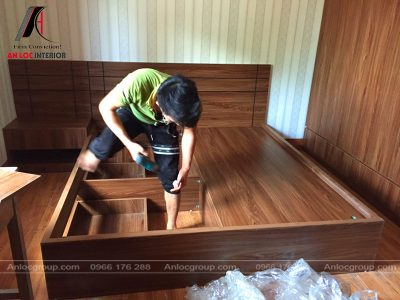 Thi công nội thất phòng ngủ tại Chùa Quang Phúc
