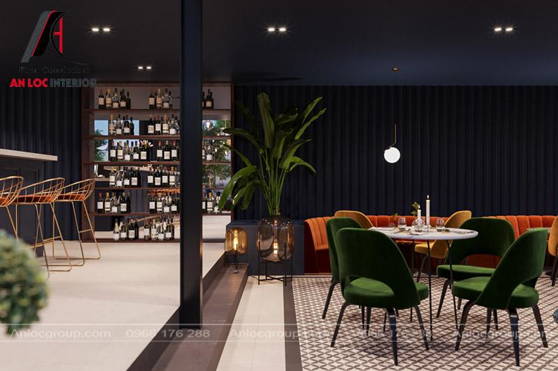 Tủ rượu thiết kế thoáng vừa đựng đồ mà còn có thể trang trí