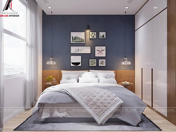 Thiết kế nội thất phòng ngủ bắc âu nhẹ nhàng
