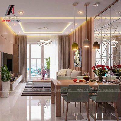 Thiết kế nội thất Bắc Giang với hạng mục chung cư 2 phòng ngủ