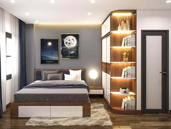 Nội thất trong chung cư DLC Complex 3 phòng ngủ với kiểu dáng đơn giản, tập trung công năng