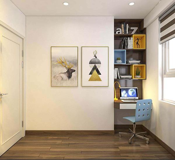 Tranh treo tường đơn giản để gia tăng sự phong phú cho căn phòng