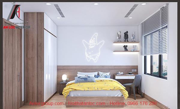Khung cửa sổ nhỏ giúp căn phòng trở nên thoải mái, dễ chịu