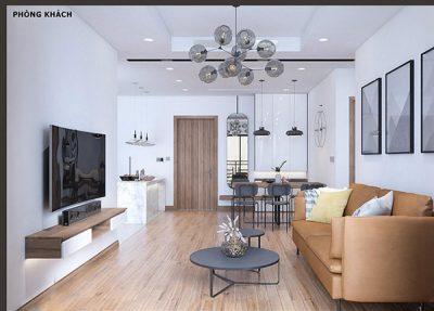 Hệ thống đèn thả trần trong phòng khách có thiết kế hiện đại, sang trọng
