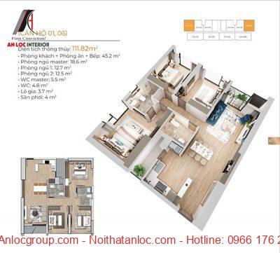 Thiết kế chung cư Matrix One với cách bố trí công năng hiệu quả