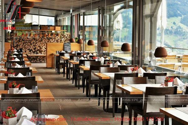 Thiết kế nội thất nhà hàng với cách sắp xếp khoa học, tiện nghi