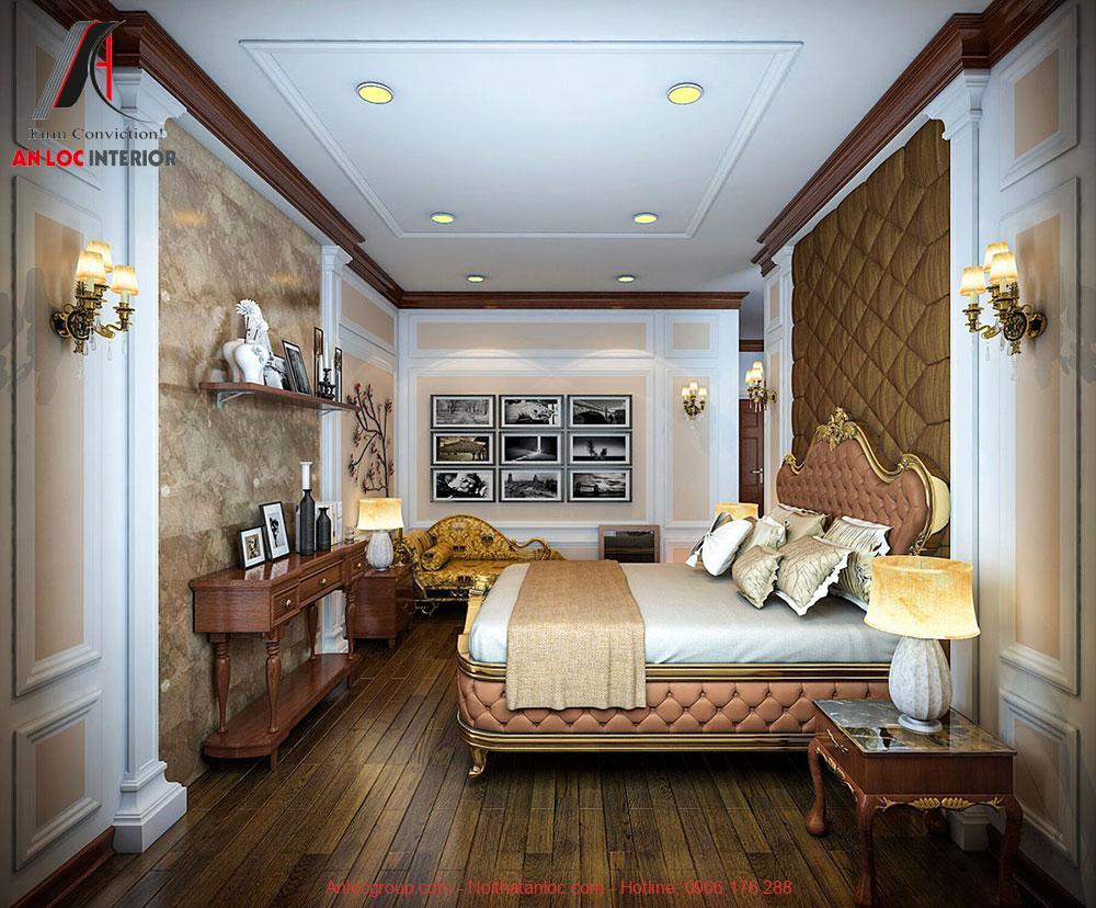 Mẫu 14: Thiết kế phòng ngủ 28m2 phong cách tân cổ điển (Ảnh 1)