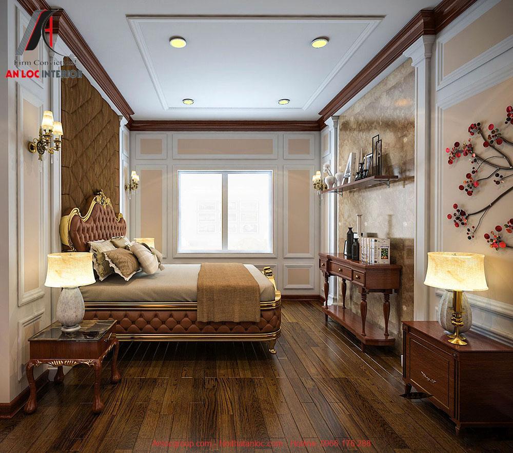 Mẫu 14: Thiết kế phòng ngủ 28m2 phong cách tân cổ điển (Ảnh 2)