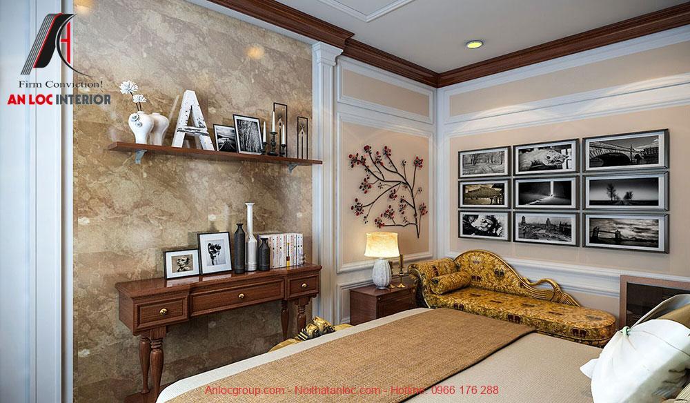 Mẫu 14: Thiết kế phòng ngủ 28m2 phong cách tân cổ điển (Ảnh 4)