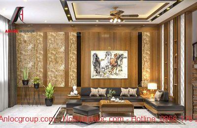 Thiết kế nội thất phòng khách nhà phố với vẻ đẹp sang trọng, cuốn hút