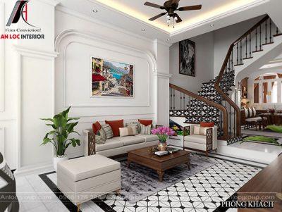 Ghế sofa phòng khách đẹp với đường nét cá tính, vững chắc