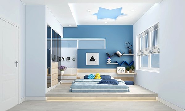 Thiết kế phòng ngủ không giường cho trẻ em