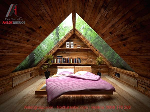Mẫu phòng ngủ không giường cá tính