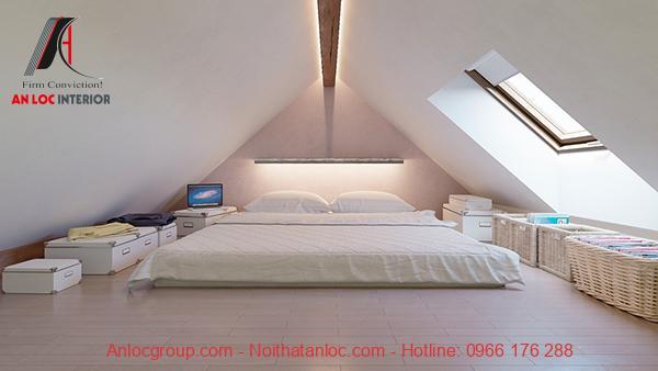 Phòng ngủ nhỏ không giường thông thoáng