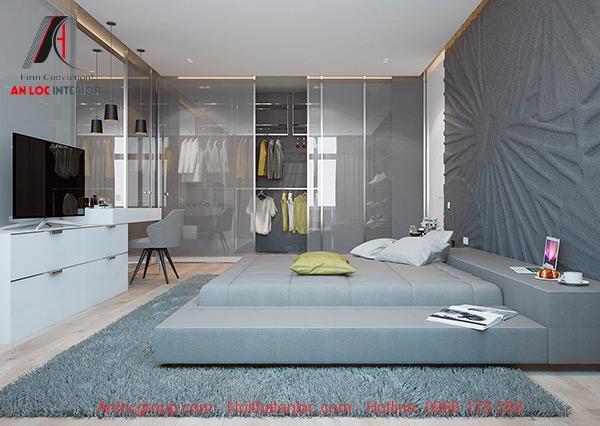 Phòng thay đồ trong phòng ngủ không cần giường