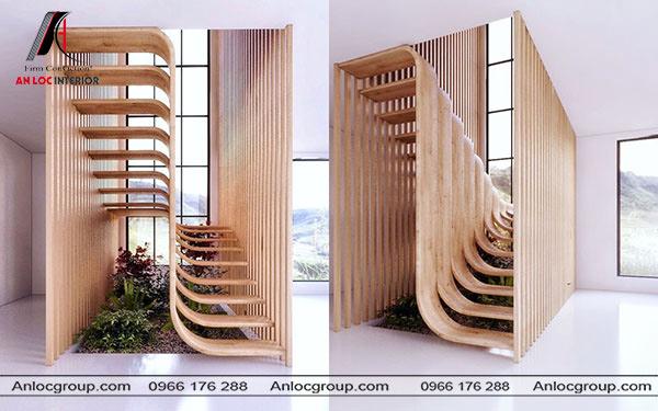5 điều cần biết để thiết kế cầu thang cuối nhà hợp phong thủy