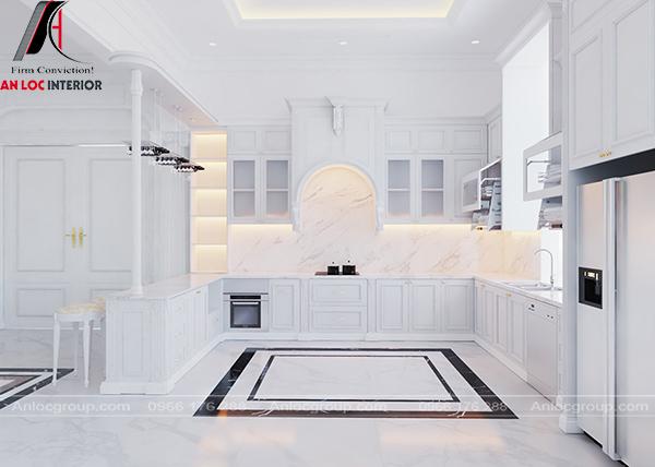 Thiết kế nội thất phòng bếp Luxury