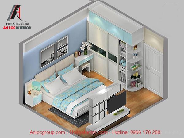 Thiết kế nội thất phòng ngủ nhỏ 13m2