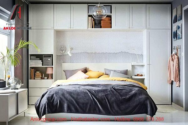 Thiết kế phòng ngủ 13m2 đẹp, tiện nghi