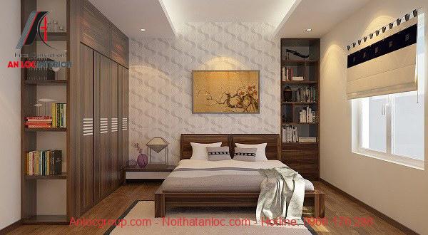 Thiết kế phòng ngủ 15m2 đơn giản