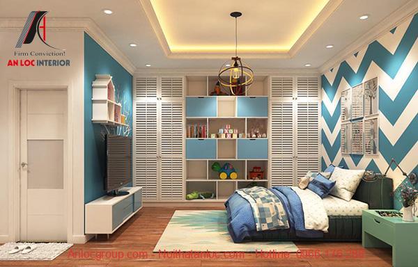 Thiết kế phòng ngủ 15m2 cho nam