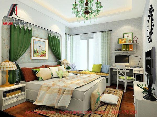 Nội thất phòng ngủ 15m2 với gam màu ấn tượng