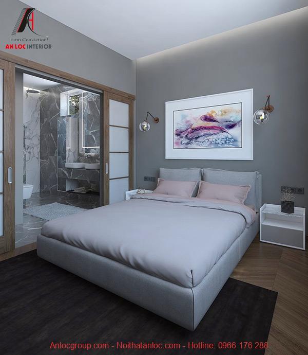 Thiết kế phòng ngủ 15m2 có toilet