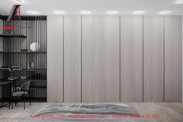 thiết kế tủ quần áo âm tường