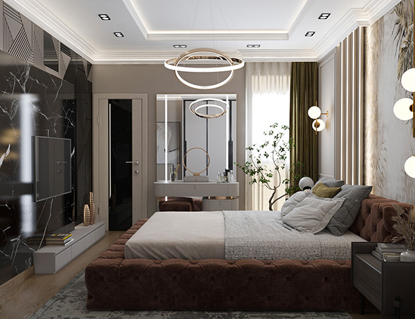 thiết kế phòng ngủ 20m2 cho vớ chồng
