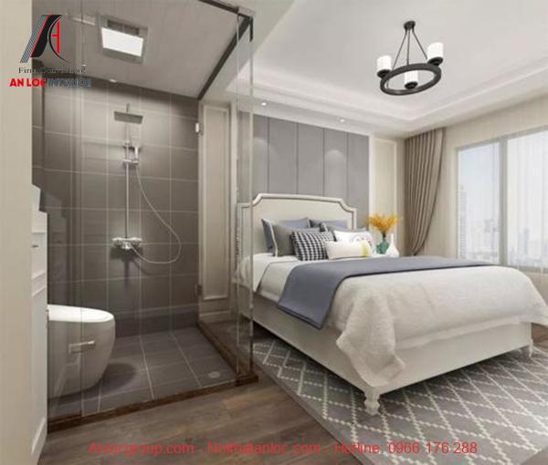thiết kế phòng ngủ 20m2 có toilet