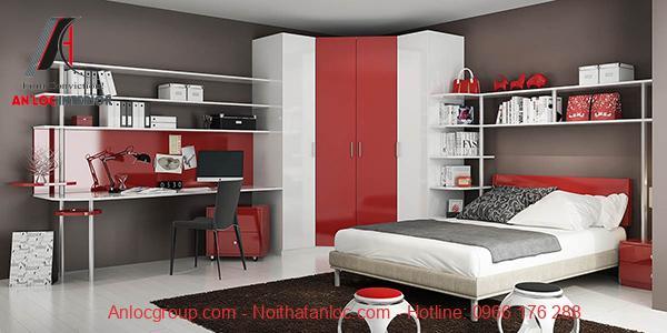 thiết kế nội thất phòng ngủ 20m2 hiện đại