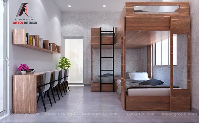 Thiết kế phòng ngủ giường tầng