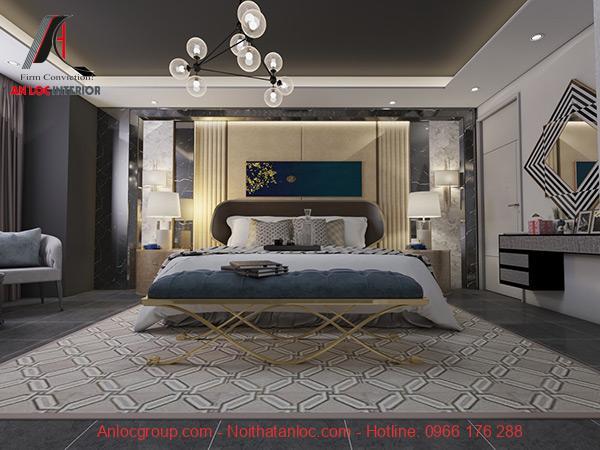 Mẫu phòng ngủ master được trang trí ấn tượng