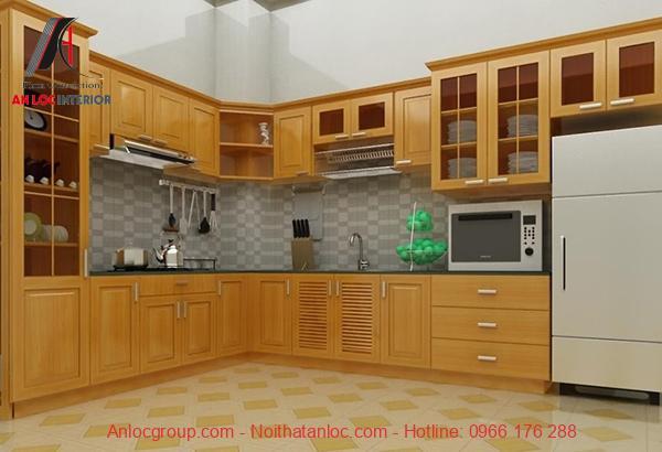 Mẫu 13: Cách sắp xếp tiện nghi bếp khoa học, ấn tượng đến từng chi tiết